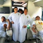 MLA Mahipal Dhanda And Bk Bharat Bhushan ( Blood Donate Krte huye)